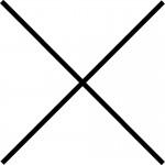 Kříž symbolizující akci, která se neuskutečnila